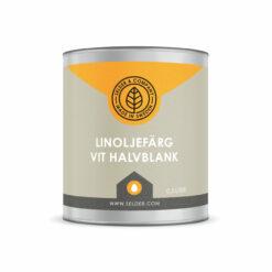 produktbild selder & company linoljefärg halvblank vit 0.5L