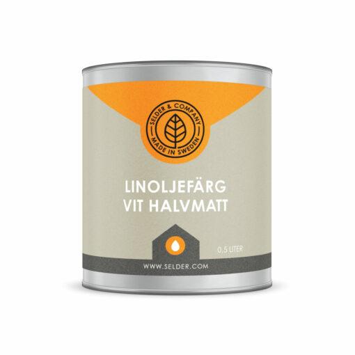 produktbild selder & company linoljefärg halvmatt vit 0.5L